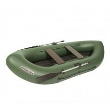 Лодка гребная Лоцман Турист 280 ВНД зеленая