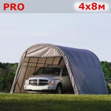 Тентовый гараж  4X8м серый