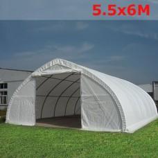 Тентовый ангар  5.5x6м белый