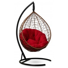 Подвесное кресло SEVILLA VERDE VELOUR горячий шоколад + каркас