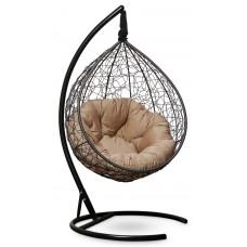 Подвесное кресло SEVILLA VERDE черное + каркас