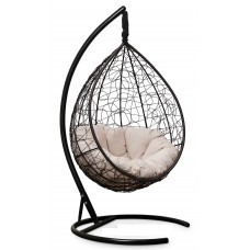 Подвесное кресло SEVILLA VERDE VELOUR коричневое + каркас