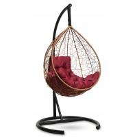 Подвесное кресло-кокон SEVILLA COMFORT горячий шоколад + каркас