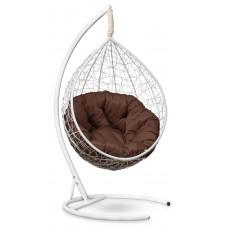 Подвесное кресло SEVILLA VERDE белое + каркас