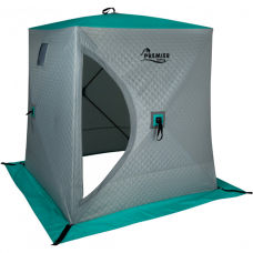Палатка-куб зимняя PREMIER (1,8х1,8) утепленная (biruza/gray)