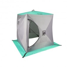 Палатка зимняя КУБ 1,5х1,5 (biruza/grey) PREMIER