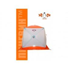 Палатка для зимней рыбалки Пингвин призма (1-СЛ.) 185х185 композит оранжевая
