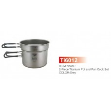 Ti6012 Ultralight 2-piece CookSet 400, 800ml набор посуды Keith Titanium (KFamily)