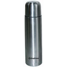 3718 VACUM FLASK 0,75 л silver  термос узк. KING CAMP