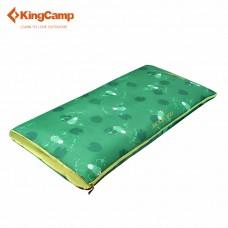 3130 JUNIOR 200 +4C спальный мешок (+4С, зелёный левый) KING CAMP