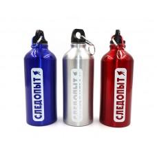 Бутылка питьевая алюминиевая Следопыт с карабином 600 мл PF-BD-A600